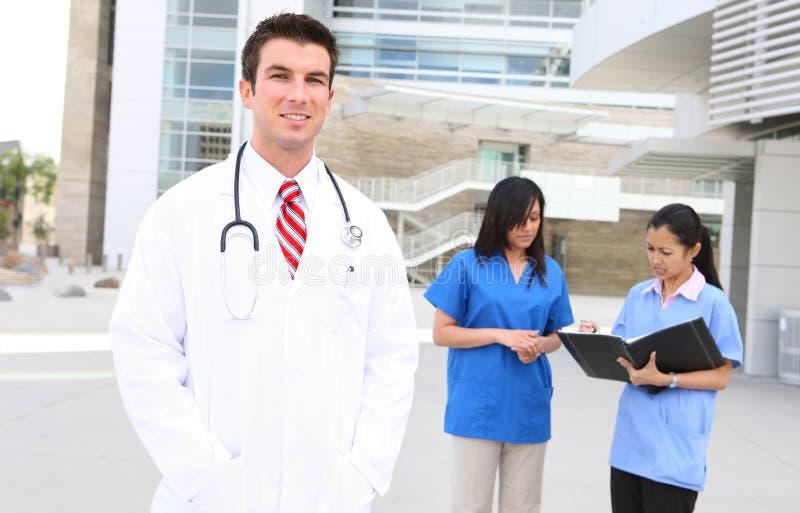 Aantrekkelijk Medisch Team royalty-vrije stock foto