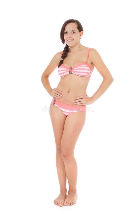 Aantrekkelijk Meisje in Bikini royalty-vrije stock afbeelding