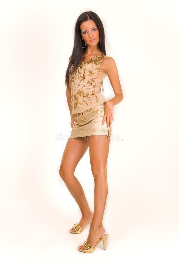 Aantrekkelijk meisje in miniskirt royalty-vrije stock afbeeldingen