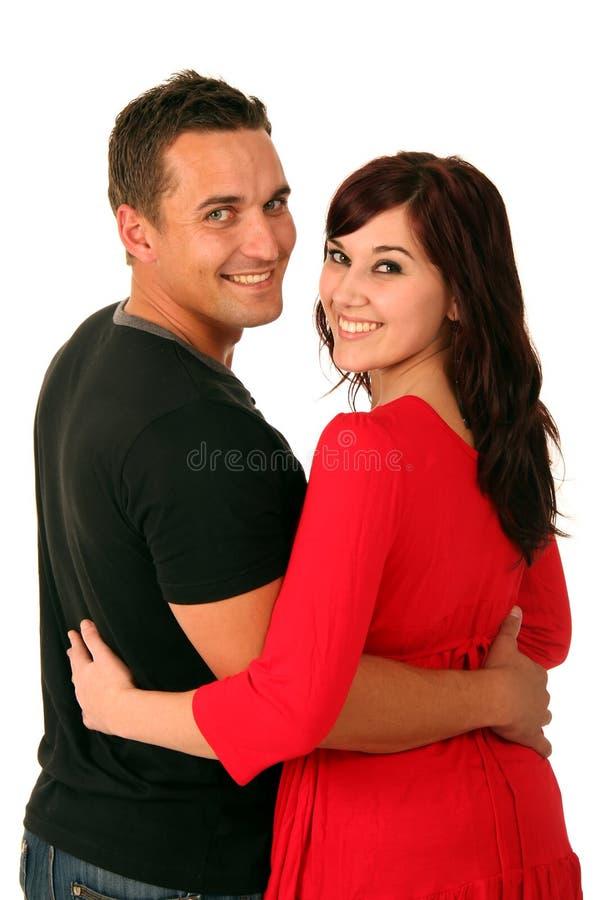 Aantrekkelijk Paar dat terug kijkt royalty-vrije stock foto