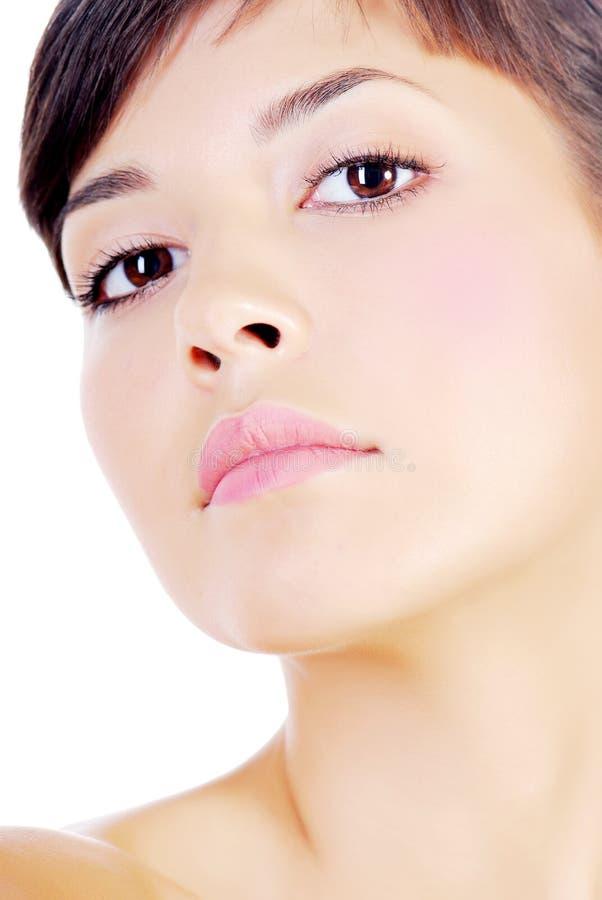 Aantrekkelijk vrouwelijk gezicht royalty-vrije stock foto