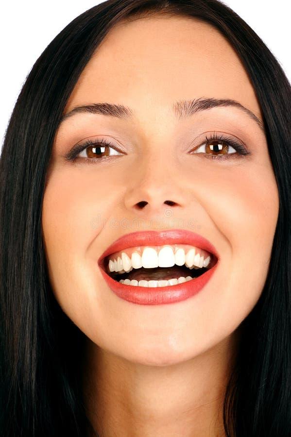 Aantrekkelijk vrouwengezicht. royalty-vrije stock foto