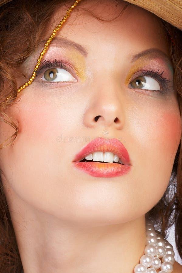 Aantrekkelijk vrouwengezicht. stock afbeelding