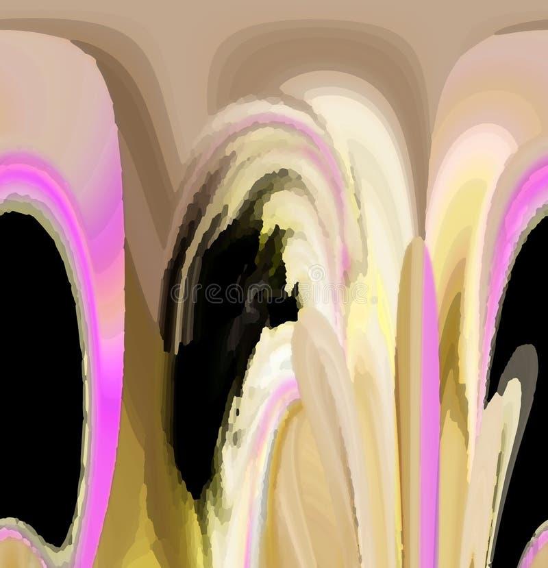 Aantrekkelijke abstracte grafiek en kunst in een aardig ontwerp royalty-vrije illustratie