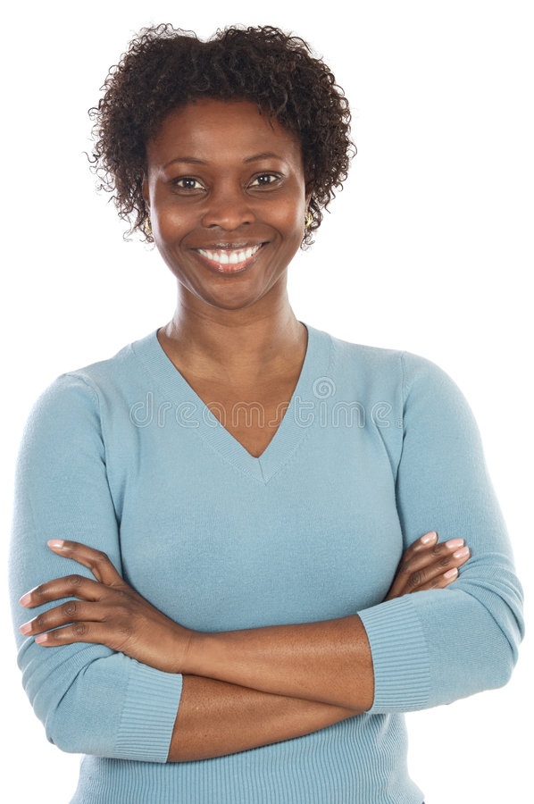 Aantrekkelijke Afrikaanse vrouw royalty-vrije stock afbeeldingen