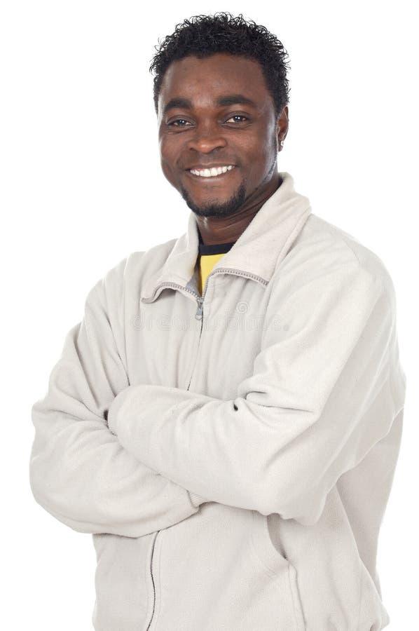 Aantrekkelijke Afrikaanse zakenman stock afbeelding