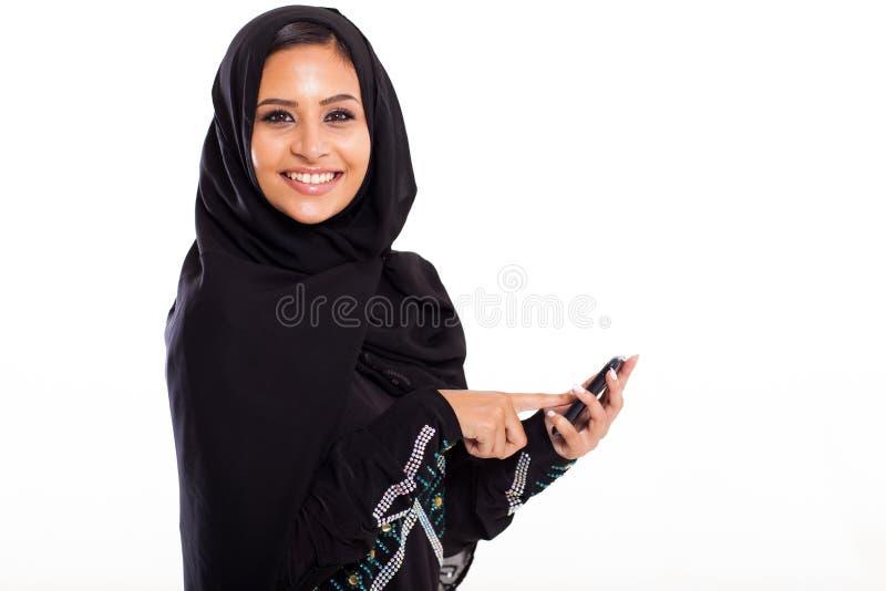 Arabische slimme telefoon royalty-vrije stock fotografie