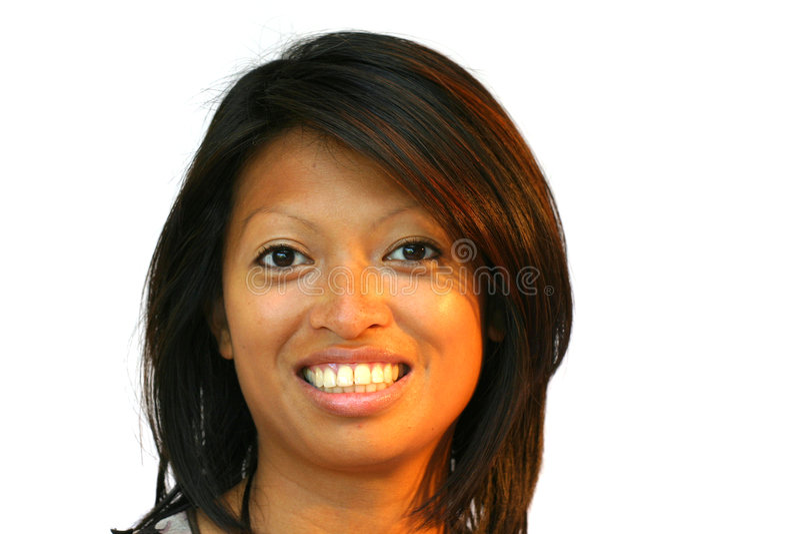 Aantrekkelijke Aziatische vrouw stock foto's