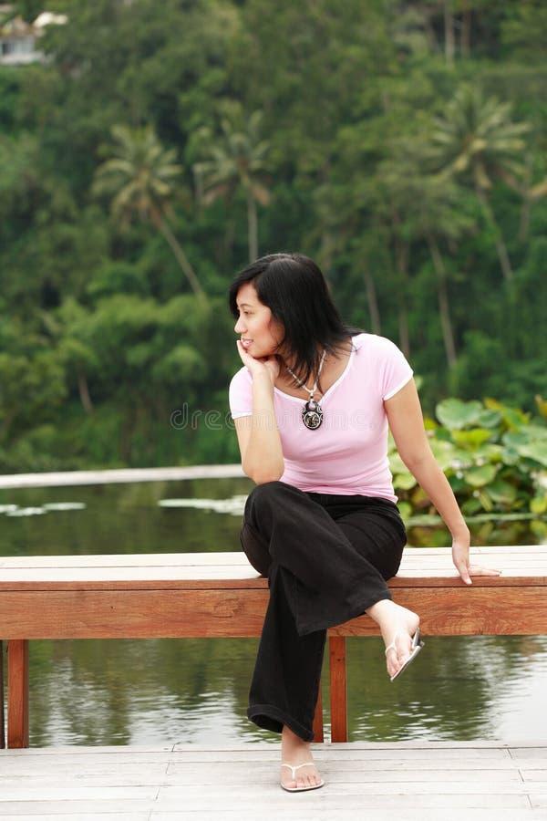 Aantrekkelijke Aziatische Vrouw stock fotografie