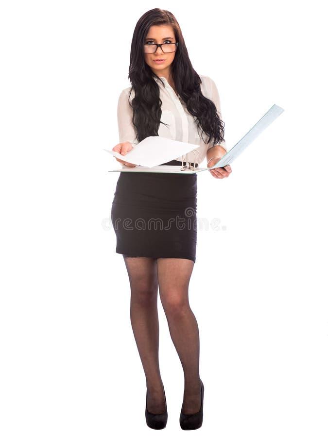 Aantrekkelijke bedrijfsvrouw stock foto's