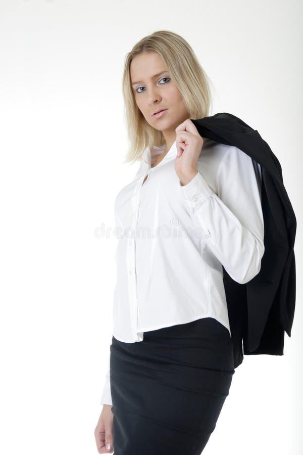 Aantrekkelijke Bedrijfsvrouw in pak royalty-vrije stock foto's