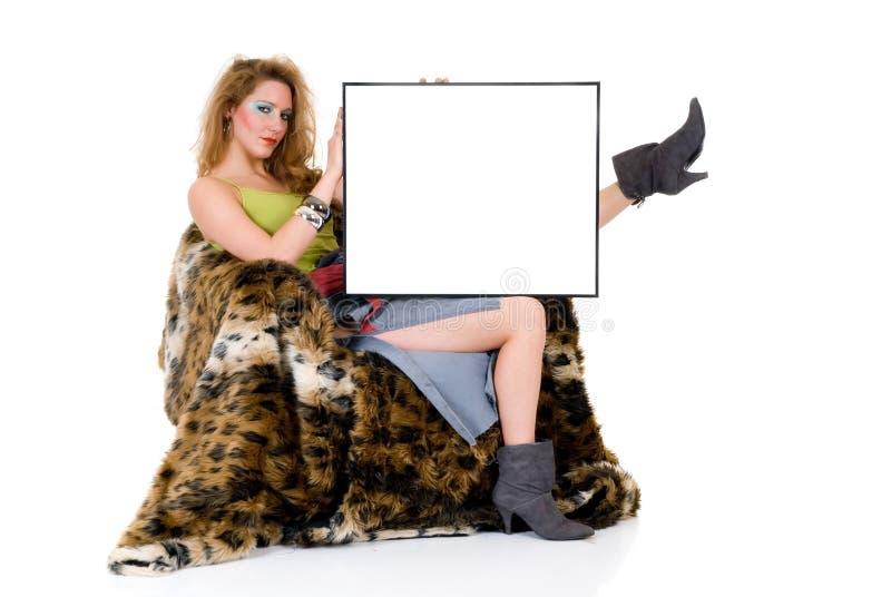Aantrekkelijke femme fatale stock foto