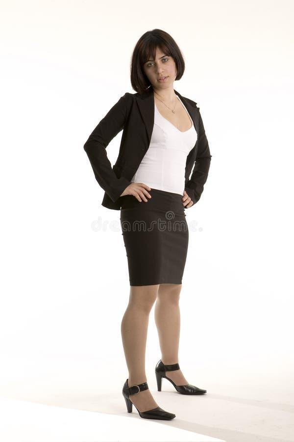 Aantrekkelijke jonge bedrijfsvrouw stock foto's