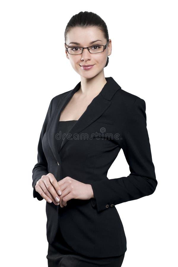 Aantrekkelijke jonge biznesswoman royalty-vrije stock afbeelding
