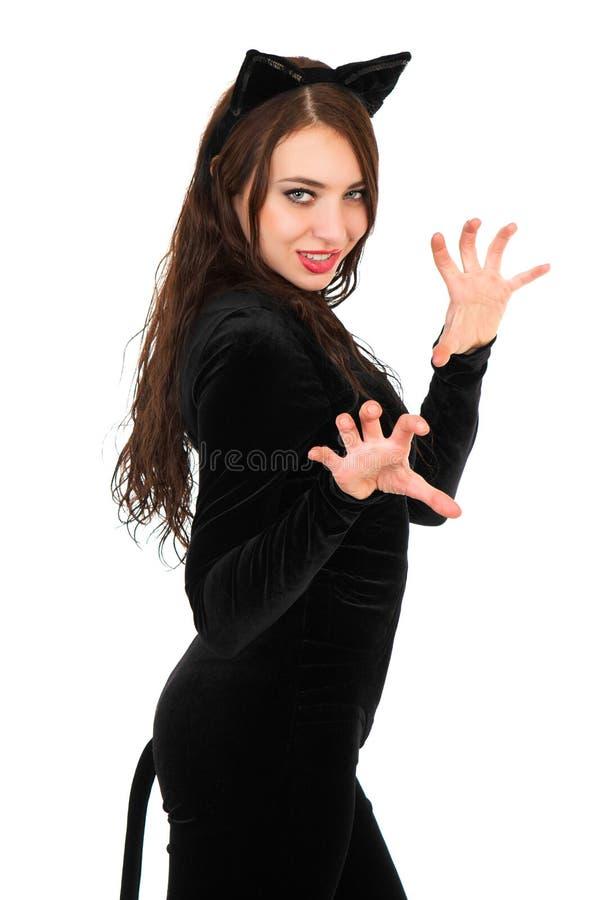 Aantrekkelijke jonge brunette royalty-vrije stock foto's