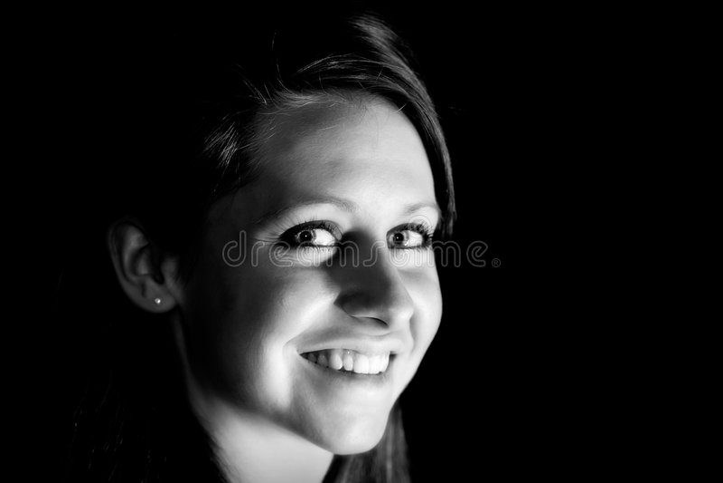 Aantrekkelijke Jonge Vrouw (BW) royalty-vrije stock afbeelding