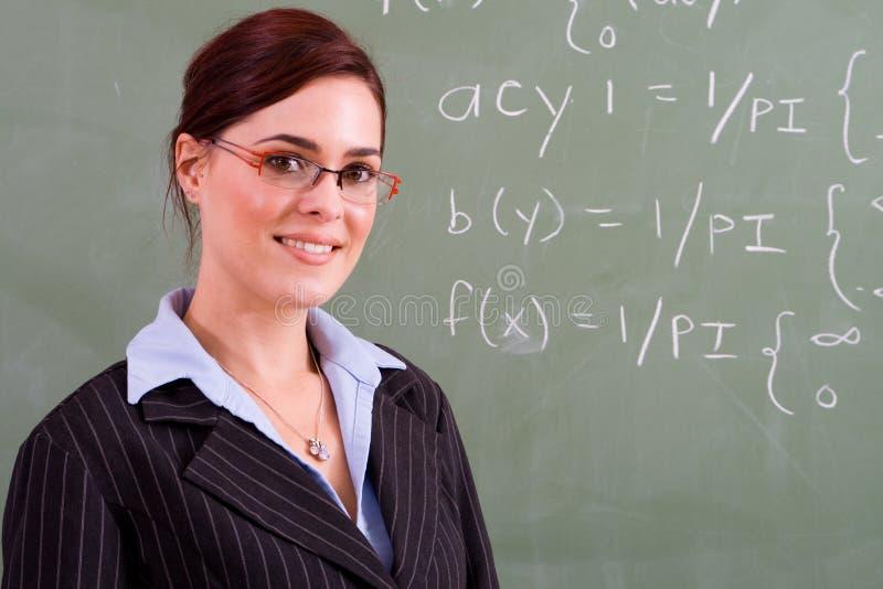 Aantrekkelijke leraar stock fotografie