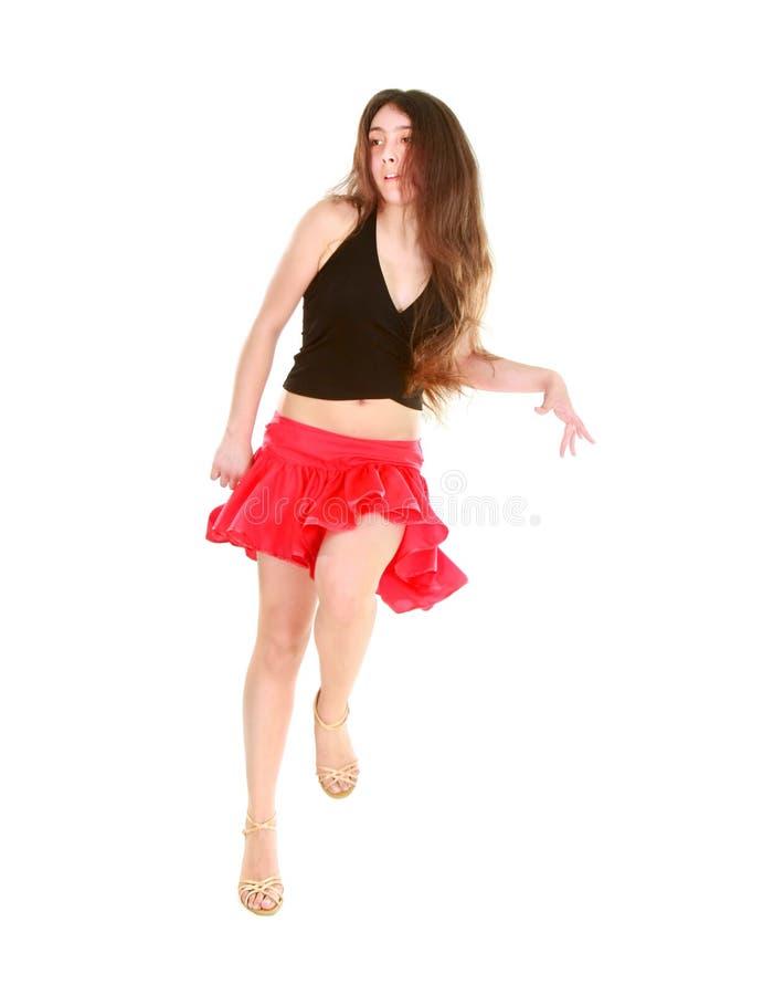 Aantrekkelijke meisje het dansen latino dans stock afbeeldingen
