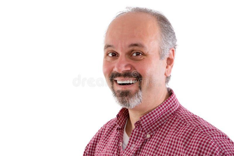 Aantrekkelijke mens op middelbare leeftijd met een sik stock fotografie