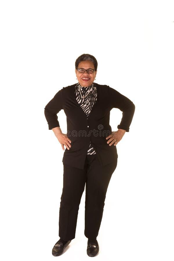 Aantrekkelijke oudere vrouw royalty-vrije stock foto's