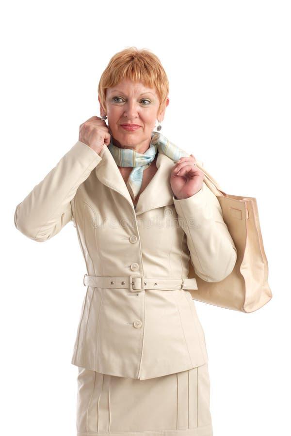 Aantrekkelijke rijpe vrouw stock afbeeldingen