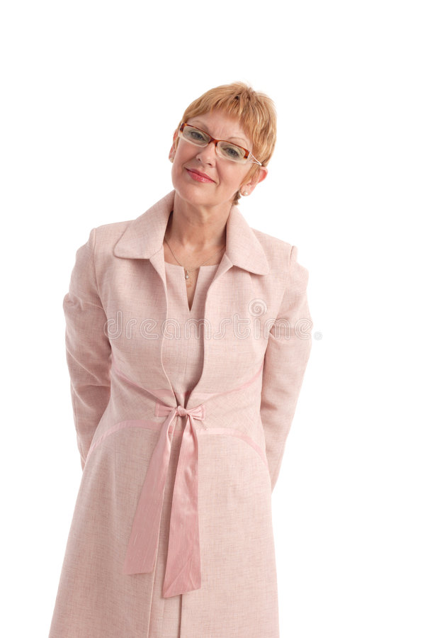Aantrekkelijke rijpe vrouw stock foto