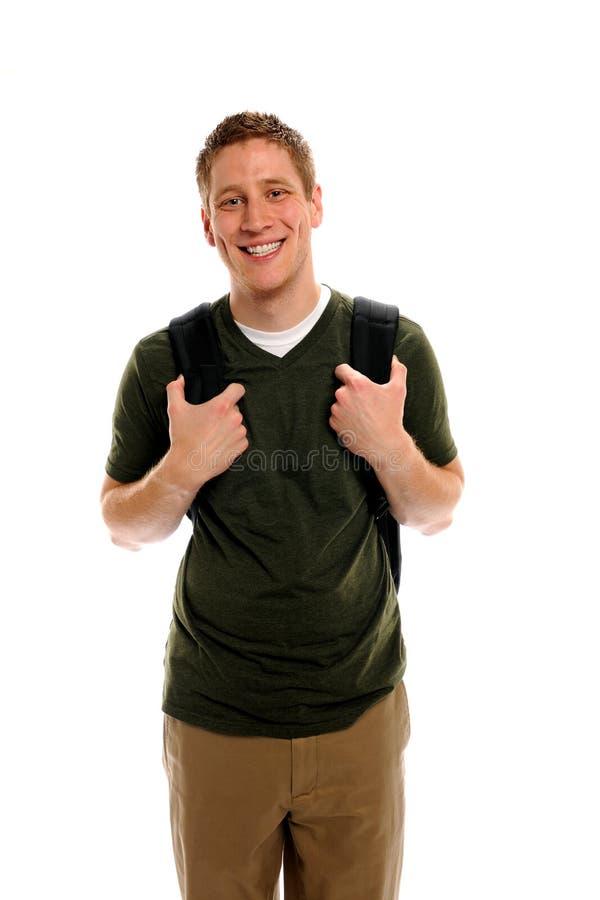 Aantrekkelijke Student met Rugzak stock fotografie