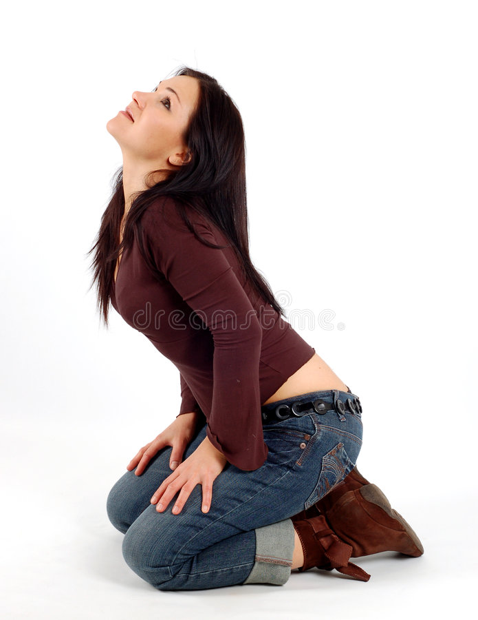 Aantrekkelijke vrouw stock afbeelding