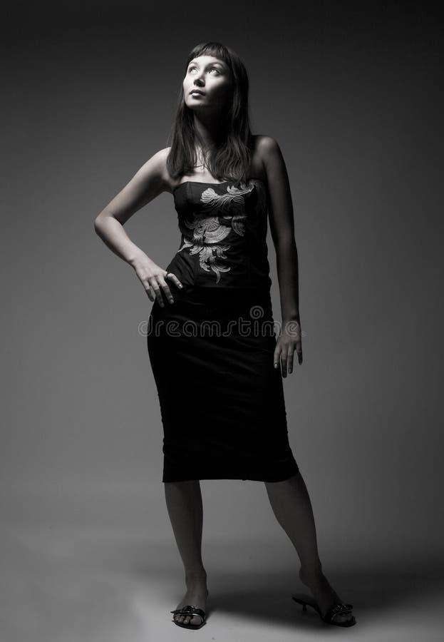 Aantrekkelijke vrouw in sexy korset stock foto