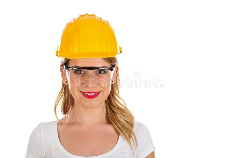 Aantrekkelijke vrouwelijke ingenieur royalty-vrije stock afbeelding