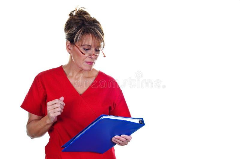 Aantrekkelijke Vrouwelijke Verpleegster royalty-vrije stock afbeelding