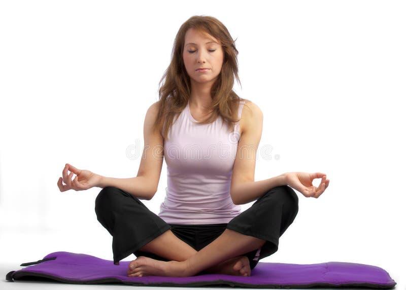 Aantrekkelijke yogavrouw royalty-vrije stock afbeelding
