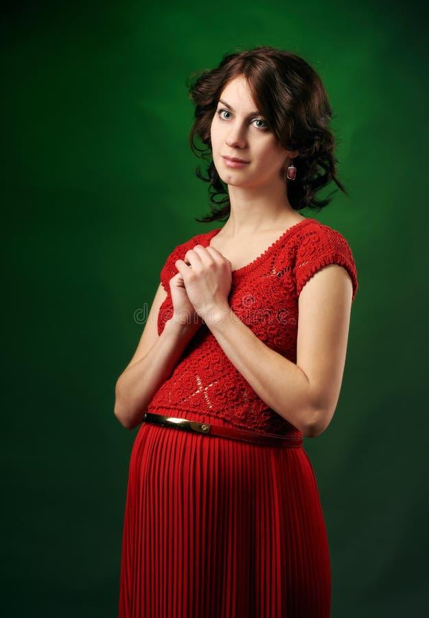 Aantrekkelijke zwangere vrouw royalty-vrije stock foto