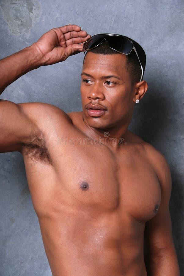 Aantrekkelijke Zwarte mens. royalty-vrije stock foto's