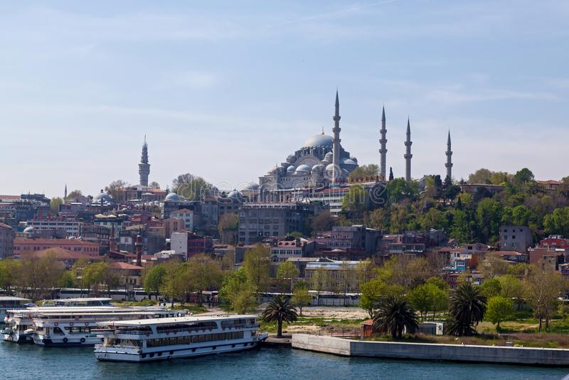 Aantrekkelijkheden in Istanboel stock fotografie