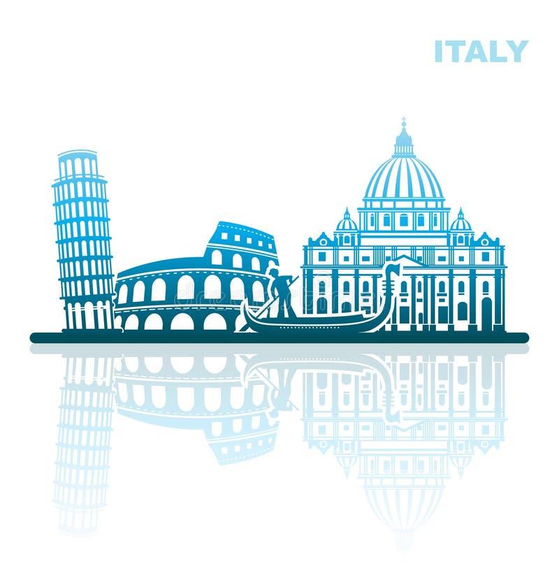 Aantrekkelijkheden Italië Abstract landschap royalty-vrije illustratie