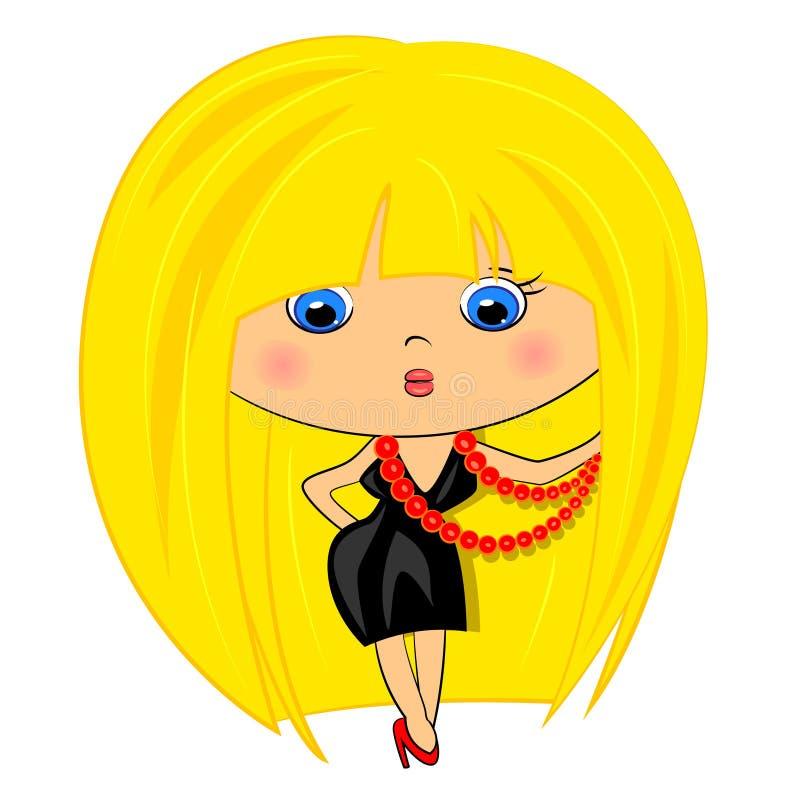 aantrekkingskracht lady.fashion meisje stock illustratie