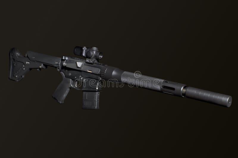 Aanvals halfautomatisch geweer royalty-vrije stock afbeelding