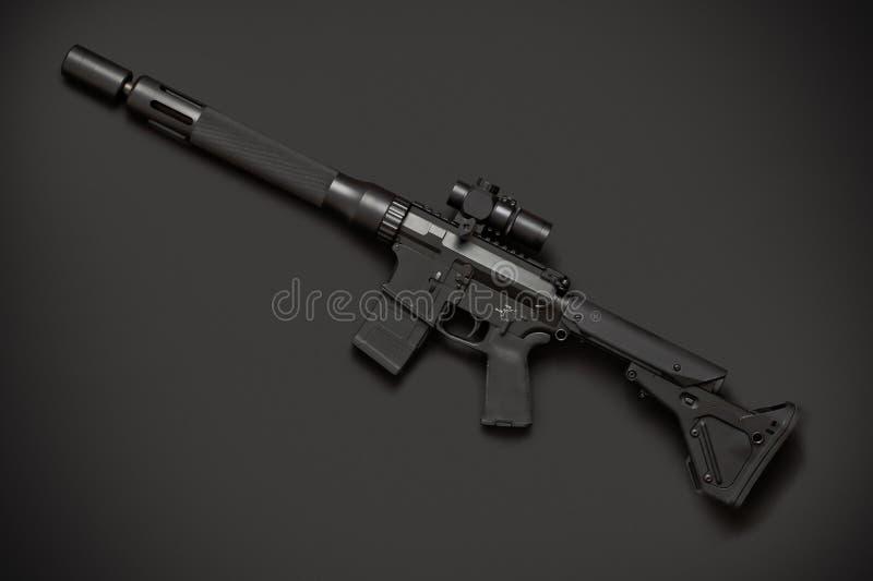 Aanvals halfautomatisch geweer stock afbeeldingen