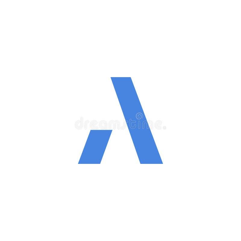 Aanvankelijk a-boek logotype Het abstracte bewegende luchtige ontwerp van het embleempictogram, klaar symbool creatief vectorteke royalty-vrije illustratie