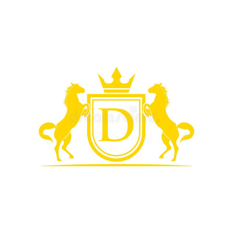 Aanvankelijk Brievend Embleem E r Heraldisch embleemmalplaatje royalty-vrije illustratie
