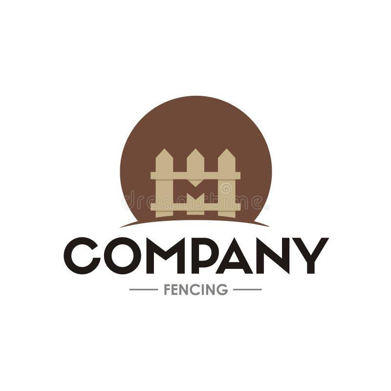 Aanvankelijk brievenm embleem met omheiningsvorm royalty-vrije illustratie