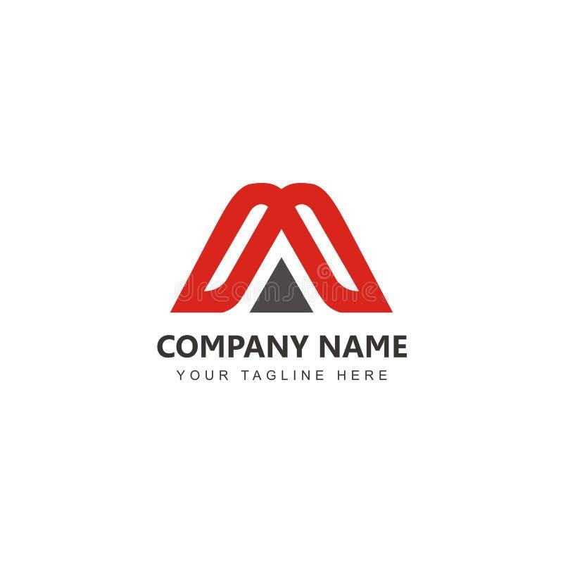 Aanvankelijk een Logo Design-inspiratievector royalty-vrije illustratie