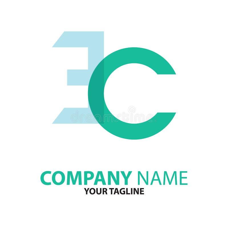Download Aanvankelijk Het Embleemconcept Van Ce De EG Vector Illustratie - Illustratie bestaande uit vlak, elegantie: 114226998