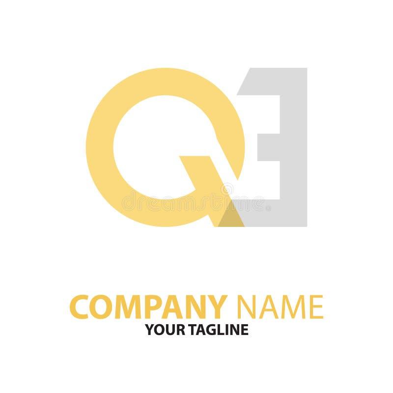 Download Aanvankelijk Het Embleemconcept Van QE EQ Vector Illustratie - Illustratie bestaande uit elegant, vlak: 114227219