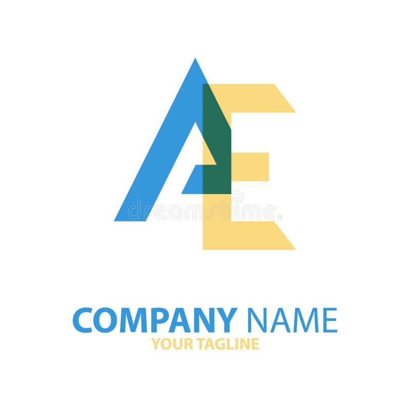 Download Aanvankelijk Het Embleemconcept Van VE EA Vector Illustratie - Illustratie bestaande uit illustratie, logotype: 114227013