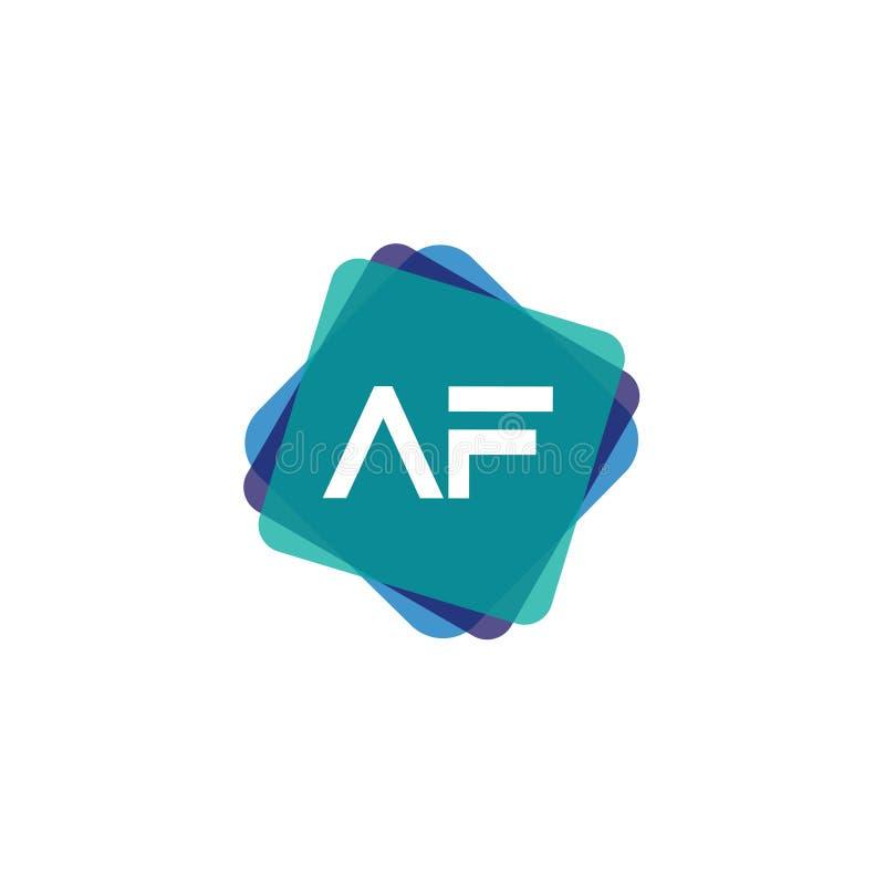 Aanvankelijke Brief AF Logo Template Vector Design vector illustratie