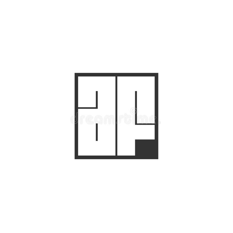 Aanvankelijke Brief AF Logo Template Vector Design royalty-vrije illustratie