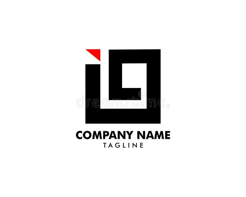 Aanvankelijke Brief I9 Logo Template Design vector illustratie