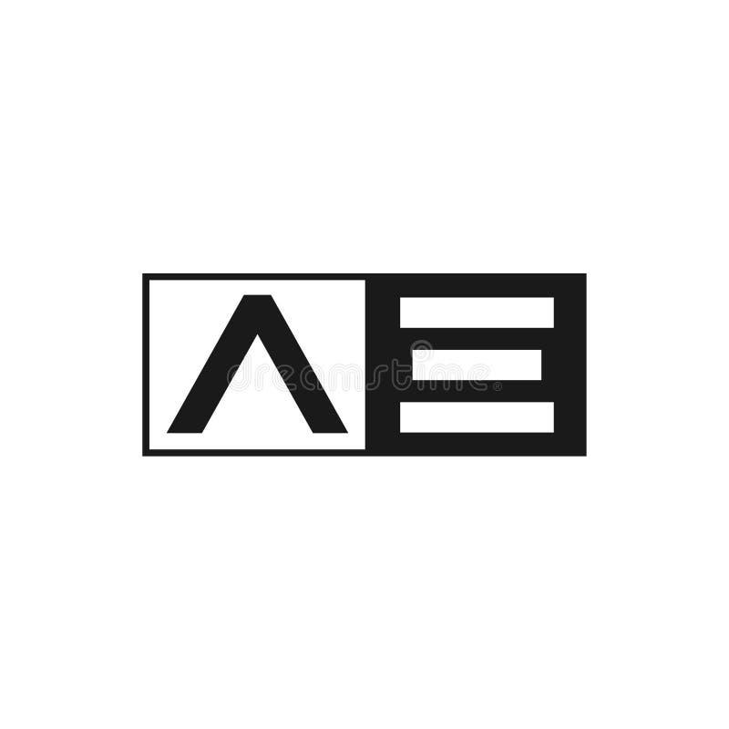 Aanvankelijke Brief VE Logo Template Vector Design vector illustratie